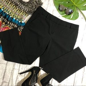 NEW YORK & COMPANY BLACK CROP DRESS PANTS SIZE: 10